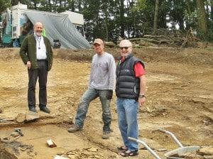 Prof. Ulrich Joger, Dr. Ralf Kosma, Dr. Rüdiger Scheller im Geopunkt Schandelah (vlnr.). Foto: SNHM