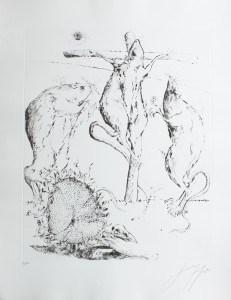 Günter Grass, Golgatha aus Die Ratten (1985), ©VG Bild-Kunst, Bonn 2015