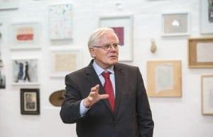 Gerhard Glogowski, Vorstandsvorsitzender der Braunschweigischen Stiftung, sprach zur Eröffnung. Foto: Peter Sierigk