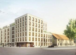 Quartier St. Leonhard / Ansicht Leonhardstraße. Quelle: Feddersen Architekten / sichtvision