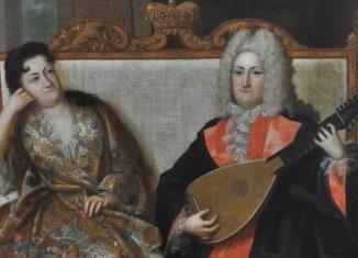 Das Schlossmuseum Braunschweig zeigt ein Porträt August Wilhelms mit seiner Ehefrau Elisabeth Sophie Marie.