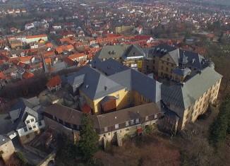 Luftaufnahme vom Großen Schloss Blankenburg. Foto: Knut Bussian