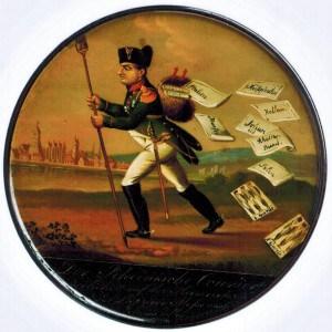 Schnupftabakdose mit einer Karikatur Napoleons (Papiermaché ). Foto: Detlev Richter