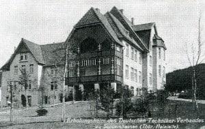 Erholungsheim des Deutschen Technikervereins in Sondershausen/Thüringen im Jahr 1909. Foto: Technikerverein