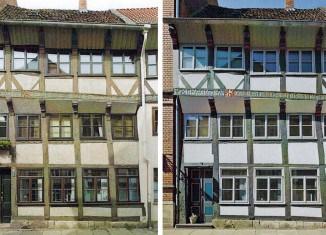 Vorher-/Nachher-Ansicht Haus Echternstraße 13. Screenshots: Denkmalpflegebericht 2012/2013