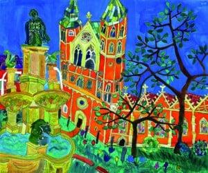 """Bild aus der Ausstellung """"Schau_Platz_Stadt – Braunschweig im Blick"""" von Susanne Lauer in der Galerie Geyso 20 Braunschweig."""