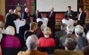 Gerhard Glogowski (rechts) während des Symposiums. Foto: Die Braunschweigische Stiftung