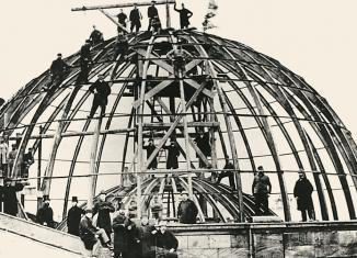 Bau der Rotunde des Braunschweiger Residenzschlosses. Foto: Buchumschlag