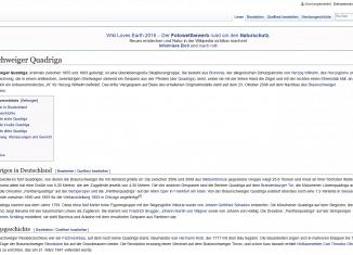 """Der Wikipedia-Eintrag zur Braunschweiger Quadriga von """"Brunswyk"""". (Screenshot)"""