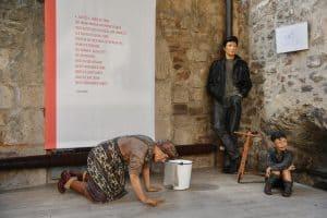 Figurenskulptur mit John Lennon. Foto: Prüsse Stiftung/Andreas Greiner-Napp
