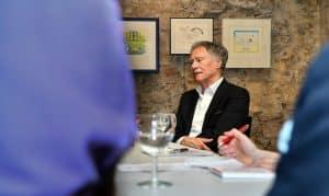 Joachim Prüsse und seine Ehefrau Karin ermöglichen die Ausstellung mit ihrer Stiftung. Foto: Prüsse Stiftung/Andreas Greiner-Napp