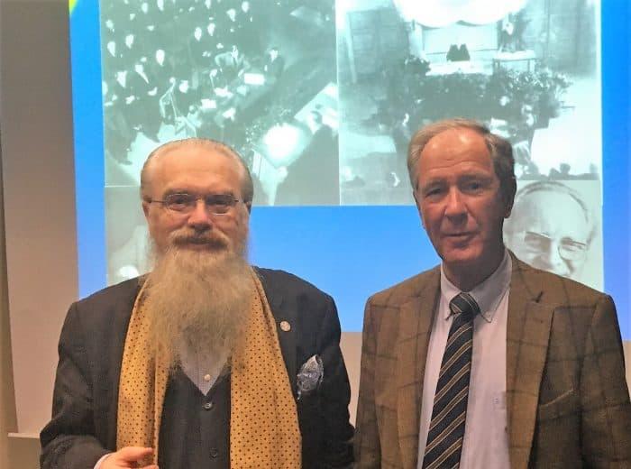 Prof. Gerd Biegel, Direktor des Instituts für Braunschweigische Regionalgeschichte; und Dr. Gert Hoffmann, Präsident der Stiftung Braunschweigischer Kulturbesitz, zu Beginn des Vortrags. Foto: SBK
