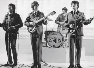 """Die Beatles in einer Szene aus dem Film """"A Hard Days Night"""". Foto: Filmfest"""