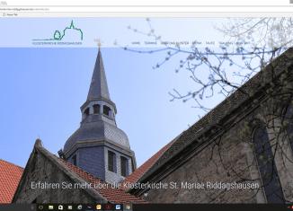 Internetseite der Klosterkirche Riddagshausen. Screenshot: meyermedia