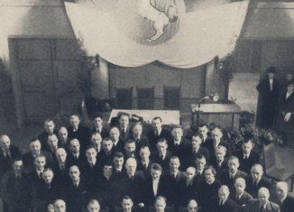 Der Mitglieder des letzten Braunschweigischen Landtags im Sitzungssaal der damaligen Kant-Hochschule. Foto: Universitätsbibliothek Braunschweig