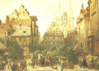 Schon wieder bessere Zeiten: Weihnachtsmarkt auf dem Kohlmarkt mit Tannen. Archiv: Ostwald