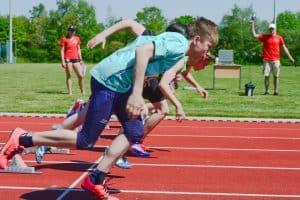 Auf die Plätze, fertig, los: Sprints über verschiedene Distanzen (50, 75 und 100 Meter) sind bei der 17. Auflage des Leichtathletik-Teamwettbewerb Pflicht. Foto: Andreas Greiner-Napp