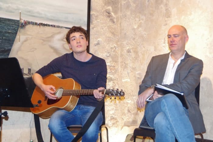 Musiker Till Seifert und Schauspieler Andreas Jäger. Foto: Stiftung Prüsse