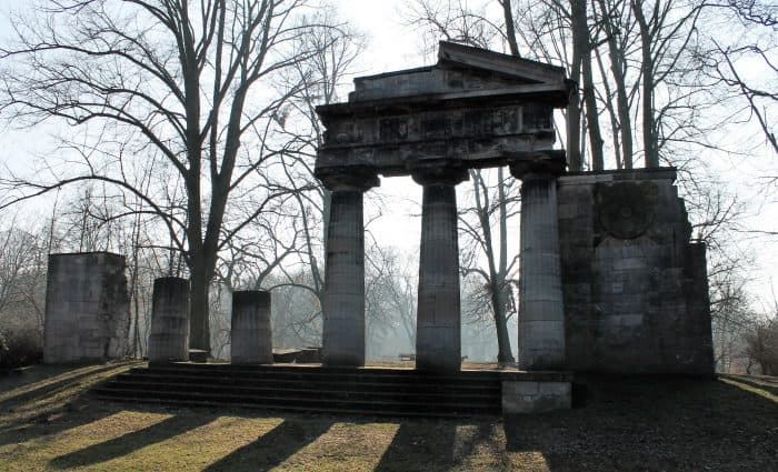 Der Portikus im Bürgerpark heute. Foto: meyermedia