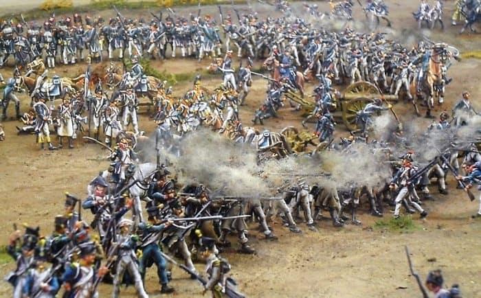Mit Zinnsoldaten wurde in einem Diorama die Schlacht auf den Feldern von Hassenhausen nachgestellt. Foto: Museum Hassenhausen