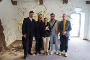 Geschäftsführer Axel Richter zusammen mit Dr. Michael Heretsch, Dr. Sarah Heretsch, Edward Sykes und Museumsleiter Dr. Christian Lechelt. Foto: Die Braunschweigische Stiftung.