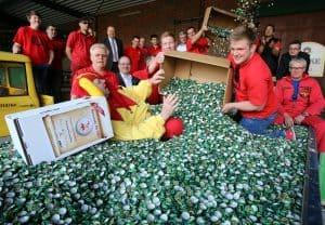 Die Brauerei Härke übergab dem Museum 2,2 Millionen Kronkorken, die zur Finanzierung der Umbauten beitragen. Foto: Henrik Bode
