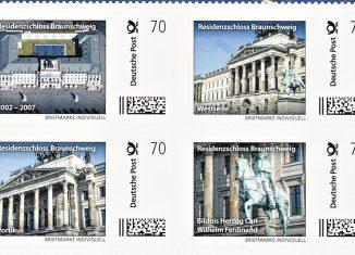 Ausschnitt aus dem Briefmarkenbogen