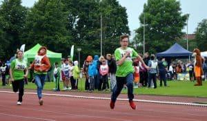 Um gute Zeiten ging es bei den Sprintdisziplinen auf der Laufbahn des Stadions am Salzgittersee.