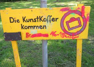 Die Aktion KunstKoffer kommt regelmäßig in die Arndtstaße. Foto: Susanne Jasper