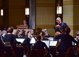 Sir John Eliot Gardiner und The English Baroque Solists bei einem früheren Soli Deo Gloria-Konzert im Kaiserdom zu Königslutter. Foto: Andreas Greiner-Napp