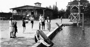 Die Bahnbadeanstalt wurde 1847 eröffnet. Foto: Archiv Ostwald