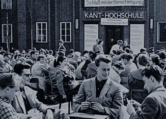 Streik wegen schlechter Studienbedingungen 1958. Foto: Screenshot, Stadtarchiv Braunschweig