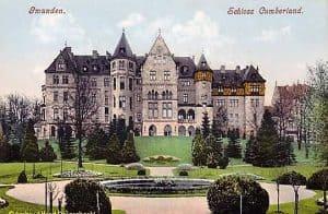 Das Schloss Cumberland als historisches Postkartenmotiv.