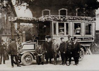 Der erste Büssing-Omnibus fuhr von 1904 an regelmäßig die Strecke Wendeburg-Braunschweig. Foto: Braunschweigische Landschaft