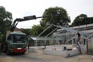 Bauphase im Sommer 2017. Foto: Botanischer Garten