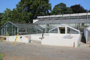 Das Betonbecken ist gegossen. Foto: Botanischer Garten