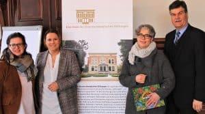 Susanne Hauswaldt (2.v.r.) während der Amtsübergabe an Insa Heinemann (2.v.l.) mit Christine Schultz und Axel Richter, Geschäftsführendes Vorstandsmitglied der Braunschweigischen Stiftung. Foto: Löwe