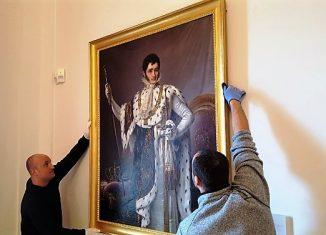 Hängung des Neuzuganges in der Dauerausstellung. Foto: Schlossmuseum