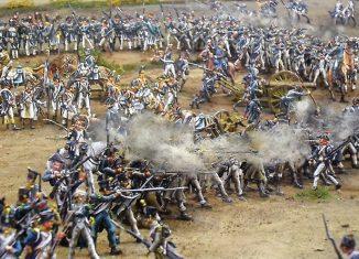 Diorama stellt die Schlacht gegen Napoleon nach. Foto: Museum Hassenhausen