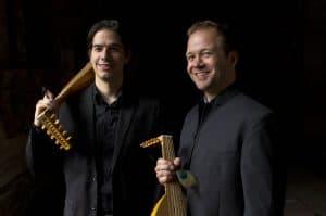 Das Duo Marc Lewon und Paul Kieffer widmet sich der Lautenmusik des Mittelalters, u.a. der Wolfenbütteler Tabulatur. Foto: Festival