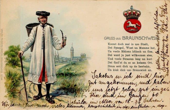 Braunschweiger Spargel wurde früh zu einer Delikatesse. Foto: Postkarte Archiv Thomas Ostwald