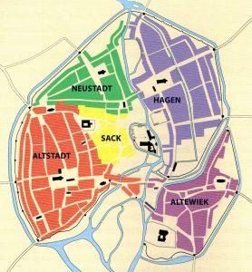 Die Weichbilde der Stadt Braunschweig im 13. Jahrhundert. Foto: Screenshot