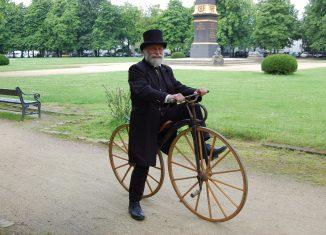 Autor Thomas Ostwald war bereits mehrfach mit Büssings Fahrrad unterwegs. Foto: Archiv Thomas Ostwald
