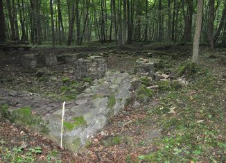 Die Grundmauern der Burgkirche sind kaum noch zu erkennen. Foto: Monika Bernatzky