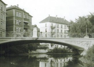 Die Gaußbrücke im Jahr 1905. Foto: Stadt Braunschweig