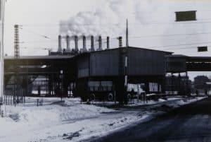 Kohleverladung Alversdorf, im Hintergrund Schwelwerk Offleben. Abgerissen um 1970. Foto: LK Helmstedt, Kreisheimatpf