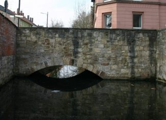 Die Brücke an der Neustadtmühle, Nordwest-Ansicht. Foto: Elmar Arnhold