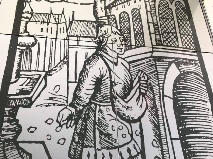 Die Illustration zeigt Till Eulenspiegel vor dem Altstadtrathaus. Foto: Archiv Thomas Ostwald
