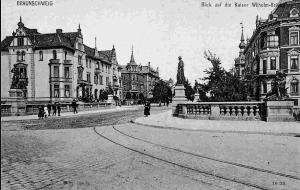 Blick in die frühere Kaiser-Wilhelm-Straße. Foto: Archiv