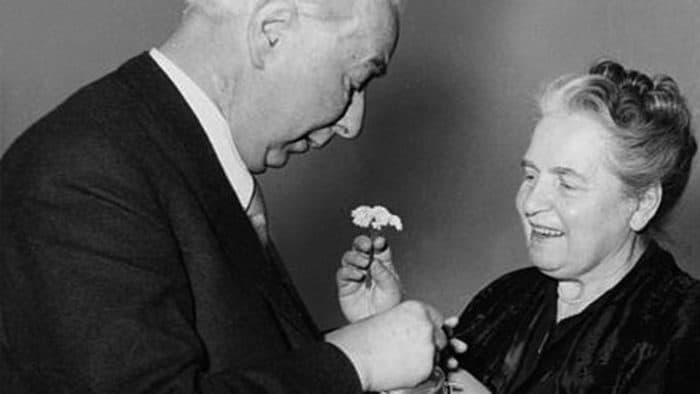 Elly Heuss-Knapp mit ihrem Mann Theodor Heuss, dem ersten Präsidenten der Bundesrepublik Deutschland. Archiv: IBR